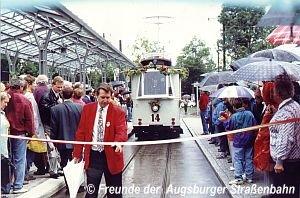 Eröffnungsfahrt am 10.9.1994 am Neuen Ostfriedhof