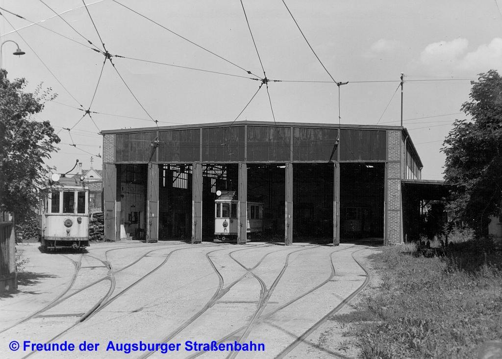 Wagenhalle Lechhausen um 1944