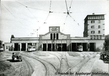 Depot Baumgartnerstraße in den 30er Jahren