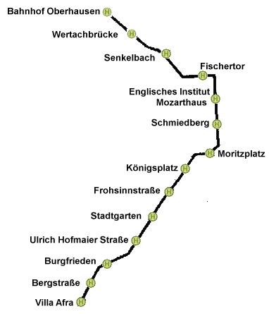Linienführung Linie 7