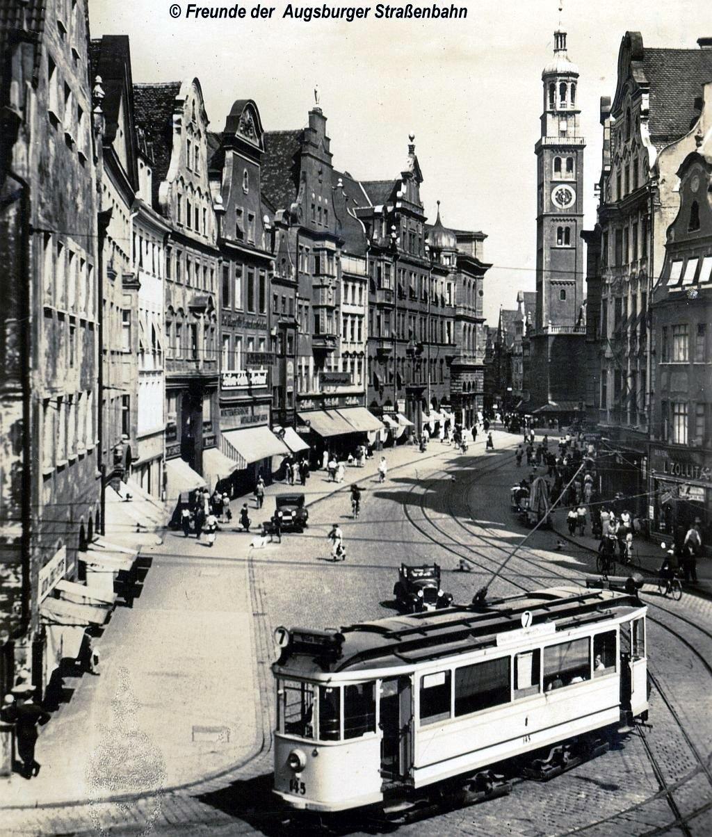 Wagen 145 auf Linie 7 am Moritzplatz