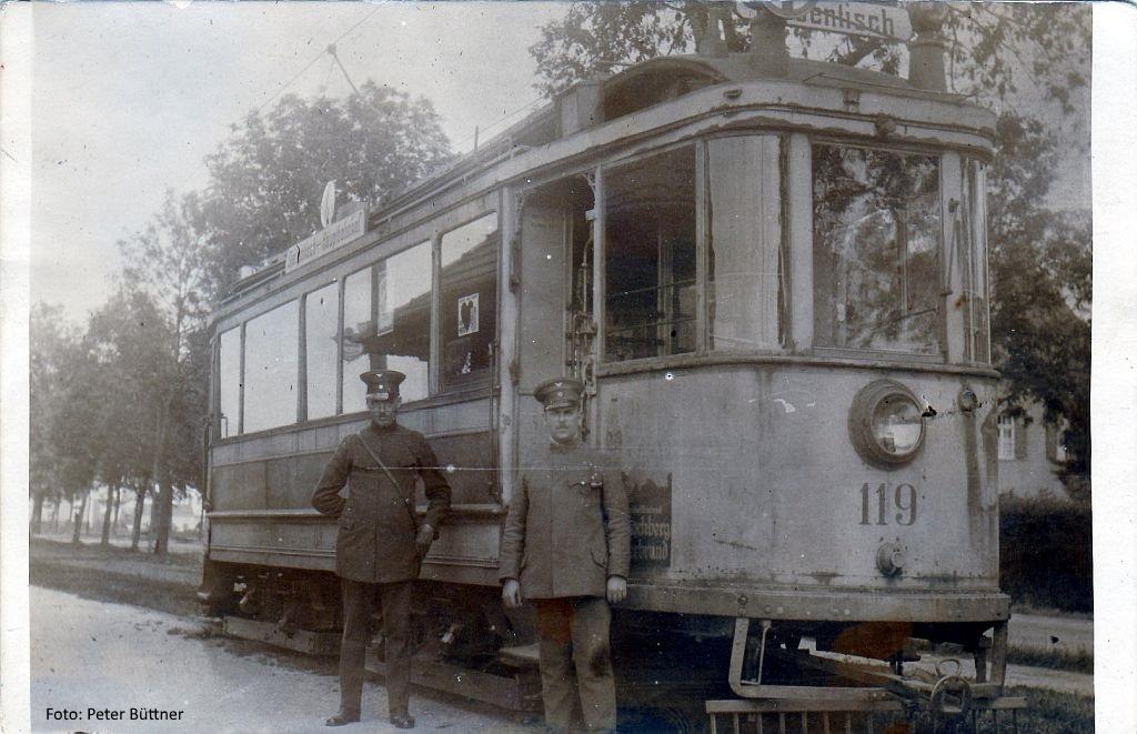 Triebwagen 119 in der Ilsungstraße
