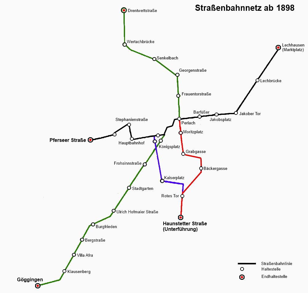 Netzplan 1898