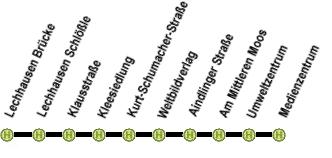 Linienweg derLinie 46