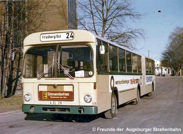 Wagen 306 auf Linie 24 in Friedberg