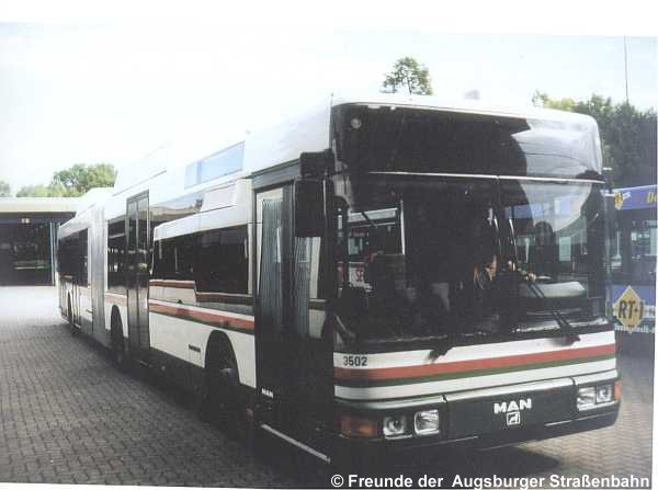 Wagen 3502 im Betriebshof